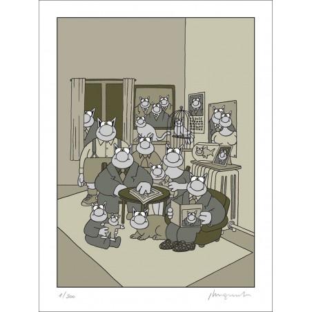 SÉRIGRAPHIE - FAMILLE (80X60)