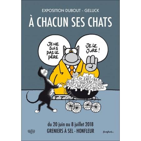CARTE POSTALE LE CHAT S'EXPOSE À HONFLEUR-1