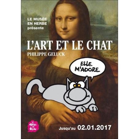 CARTE POSTALE - L'ART ET LE CHAT