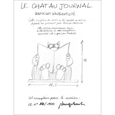 LE CHAT AU JOURNAL