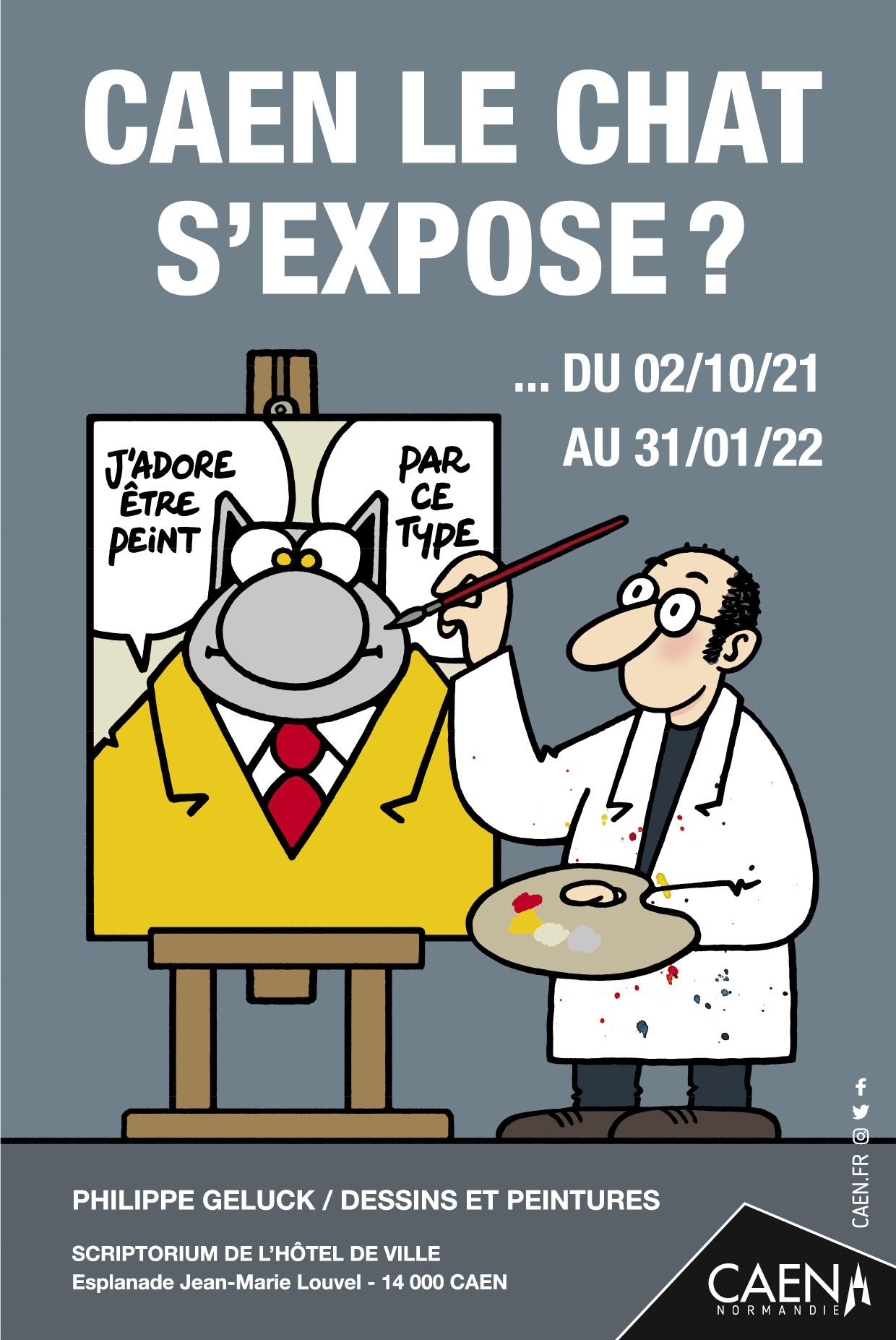Le Chat s'expose au Scriptorium de Caen du 2 octobre 2021 au 31 janvier 2022.
